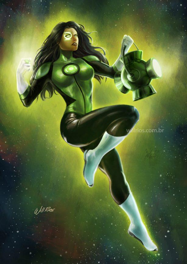 Digital Painting Green Lantern