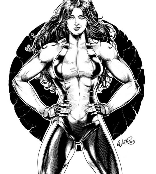 She Hulk line art