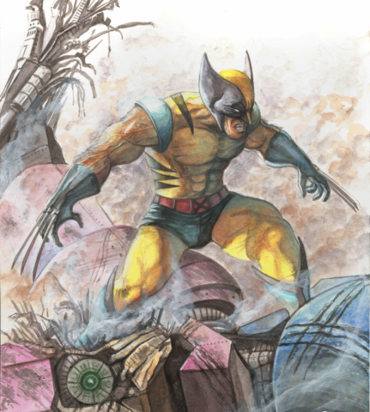 Wolverine Watercolor